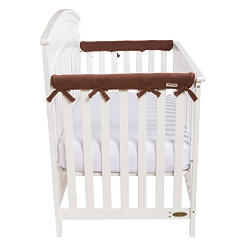 Trend Lab Waterproof CribWrap Rail Cover - for Narrow Side Crib Rails Made to Fit Rails up to 8' Around. Pack of 2!