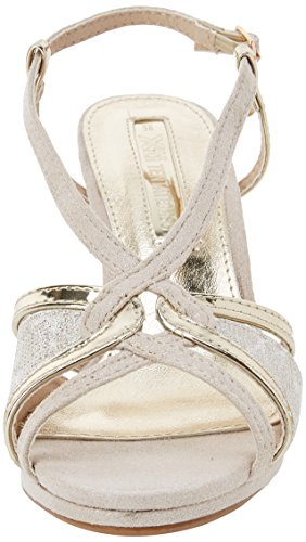 XTI Damen 30679 Knöchelriemchen Sandalen Gold