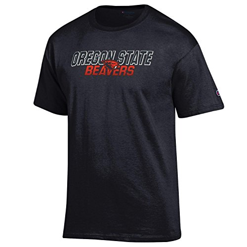 Champion NCAA Men's Fadeaway Team Basic Short Sleeve Shirt Oregon State Beavers X-Large