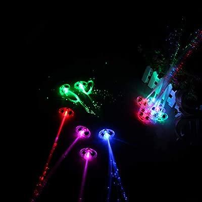 STOBOK 15 Unids Colorido LED Pelucas Que Brilla Intensamente ...