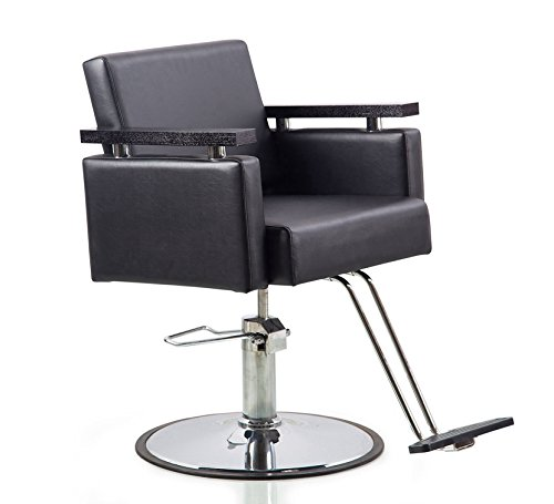 Danyel Beauty Professonal Hydraulic Barber Chair Salon Beauty Spa Hair Styling Chair (round base, black color)