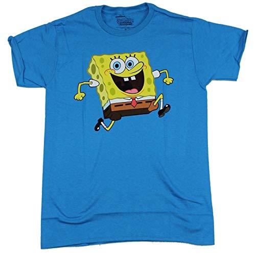 Spongebob - Sponge Bob Reversable Adult T-Shirt (Medium, Turquoise)]()