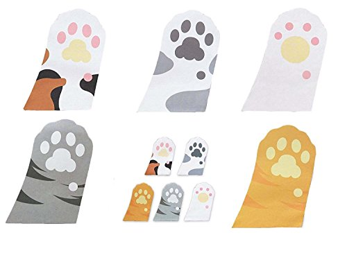 Megrocle Lovely Cartoon Kitty Cat Sticker Cute Cat's Paw Self-Stick Notes Self-Stick Note Pads Memo Flag Sticky Notes Scratch Pads, 6 pads,30 Sheets/Pad Kitty Notepad