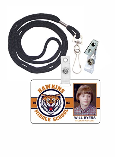 Stranger Things Will Byers Novelty ID Badge Film Prop for Costume and Cosplay • Halloween and Party Accessories