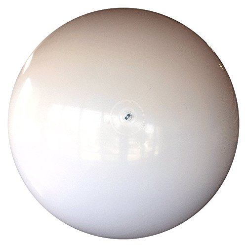 10-FT Deflated Size Solid White P7 Beach Ball by Beachballs