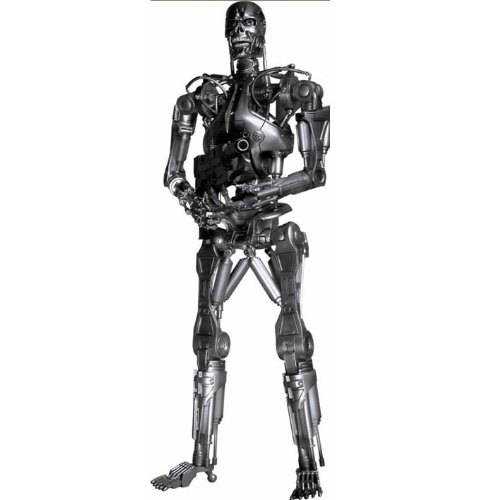 NECA Terminator 2: Judgement Day 7 Inch Series 1 Action Figure Endoskeleton with Plasma Rifle