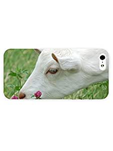 3d Full Wrap Case for iPhone 5/5s Animal Goat Smelling The Flower