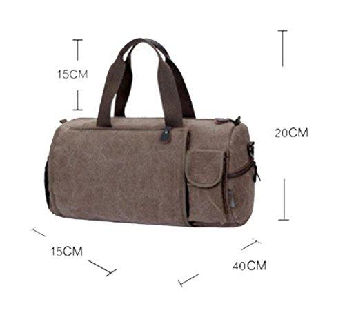 Section Big Canvas Oval Storage Bag Men Coffee Handbag Cross Travel Chengxiaoxuan Shoulder U6pwgw