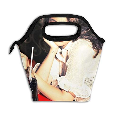 Kids Lunch Bag Se-lena Gom-ez Lunch Box Insulated Reusable Lunch Tote Picnic Bags Ice Pack For Adult Men Women