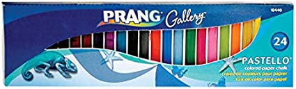 Prang Pastello Colored Art Chalk for Paper 10441 12 Assorted Colors per Box