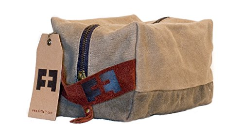 DOPP-KIT-by-FAT-FELT-Shave-and-Toiletries-Travel-Bag-in-Waxed-Canvas-and-Suede-Leather