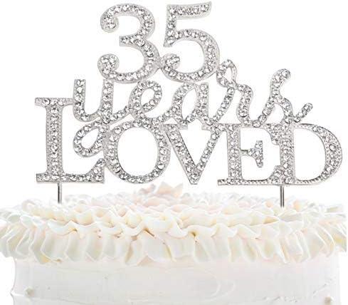 Anniversario Matrimonio 41 Anni.Jeremyhar75 Decorazione Per Torta 35 Anni Di Compleanno 35