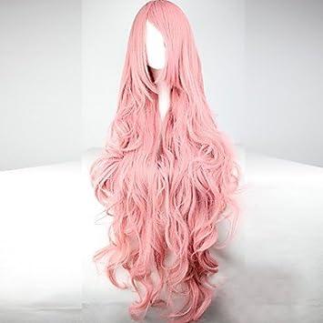 OOFAY JF® onda larga pelucas 100cm del anime luz pelucas cosplay Hatsune Miku , pink