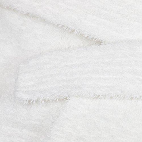 Coton Beaucoup Peignoir Châle Zollner De Blanc Col Avec Pur Tailles 020 f1cwq