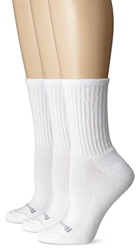 No Nonsense Women's Ahh Said The Foot Cushioned Crew Sock 3-Pack, White, One Size ()