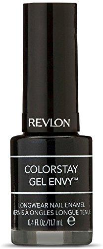 Revlon ColorStay Gel Envy Longwear Nail Enamel, Black Jack 0.40 oz (Pack of 2)