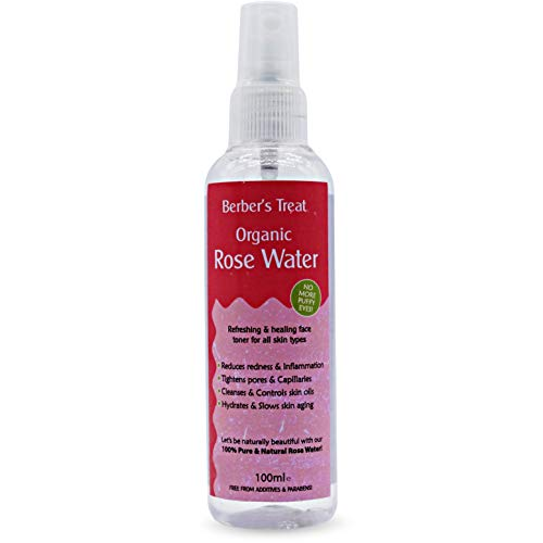 Organic Rose Water - Uplifting and Divine Scent will Refresh, Soothe and Calm Your Skin - Heat Rash Treatment - 100ml Spray Bottle