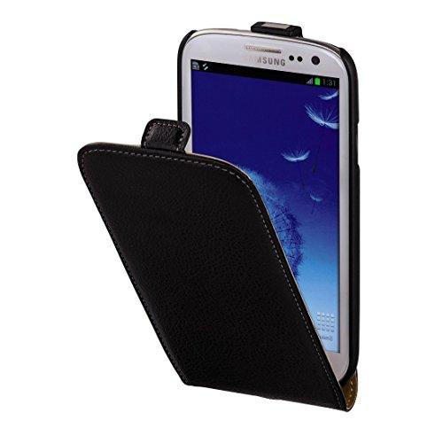Hama Flip Case (Maßgefertigte Schutzhülle mit Magnetverschluss, geeignet für Samsung Galaxy S3 Tasche) schwarz