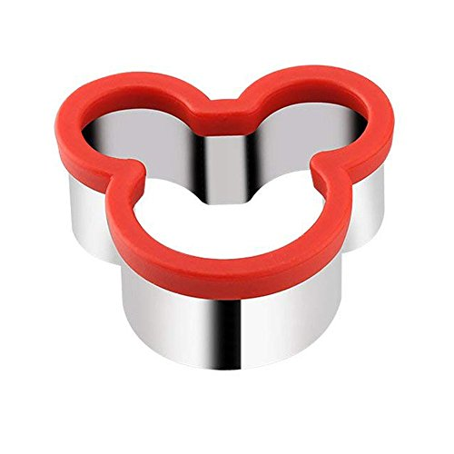 Mickey Mouse sandwich Cutter for Kids Large Stainless Steel Cookie Cutter with Grip 4 Inch by KAISHANE