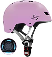 UniqueFit Kids&Adult Helmet Adjustable Protective Helmet for Scooter Cycling Roller Skate,CPSC&ASTM Ce