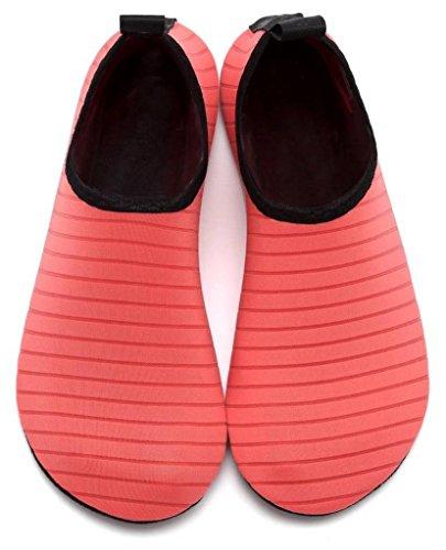 Barefoot Secado de Zapatos Rosado Piel Agua Yoga rápido COMVIP de Adulto Aqua Calcetines Hombres del fvqwITEa