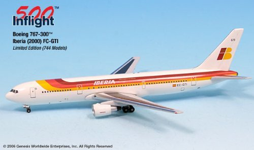iberia-ec-gti-boeing-767-300-er-airplane-miniature-model-snap-fit-1500-part-a015-if5763003