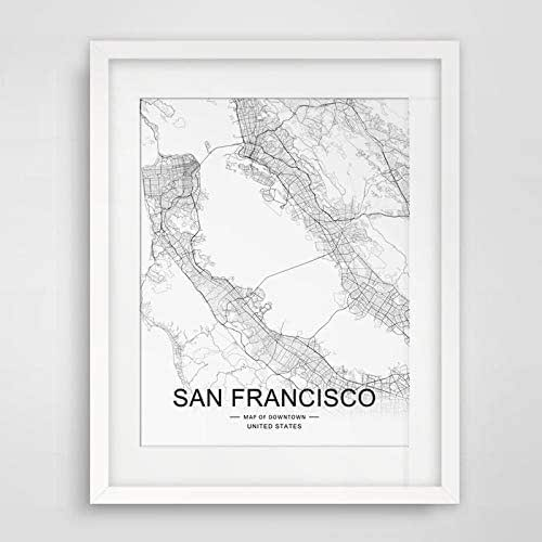 San Francisco City Downtown Map Wall Art San Francisco Street Map Print on san francisco street parking map, san francisco attractions, san francisco haight-ashbury 60s, san francisco 1800s, venice street map print, london street map print, san francisco beaches swimming, key west street map print, san francisco cable car routes, san francisco 1915, san francisco street car map,