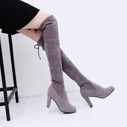 Grigio Martin Longra donne talloni gli stivali alti inarcano delle Gli xxHw8qFZz