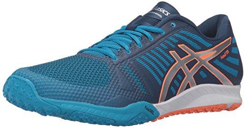 - ASICS Men's FUZEX TR Cross-Trainer Shoe Blue Jewel/Silver/Hot Orange 10 M US
