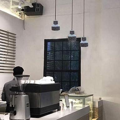 WenKaiLi Terrazo sola lámpara colgante de estilo europeo Industrial Light Araña simple Cemento de la lámpara por Restaurante Hotel Bar Hotel la decoración del hogar Iluminación (Color : Blanco): Amazon.es: Iluminación