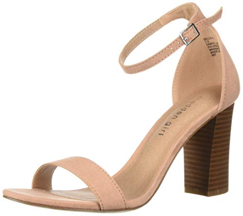 Madden Girl Women's BEELLA Heeled Sandal, Champagne Fabric, 8 M ()