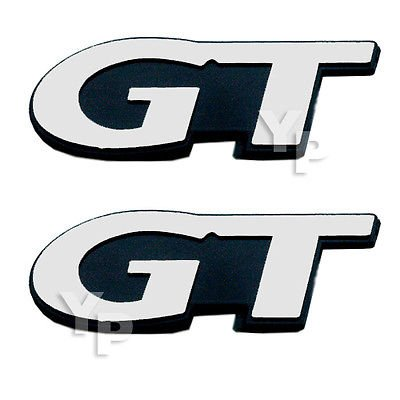 1999-2004 Ford Mustang GT Exterior Emblems in Chrome & Black - - Gt Fender Emblem