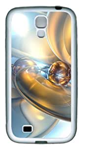 Abstract 3D Backgrounds TPU Rubber Soft Case Cover For Samsung Galaxy S4 SIV I9500 White
