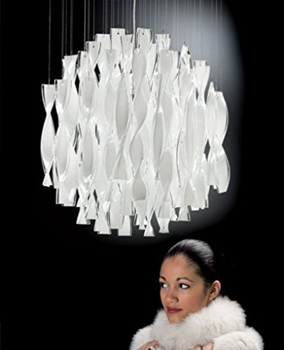 Aura 45 chandelier - white, 110 - 125V (for use in the U.S., Canada etc.), gold leaf ()