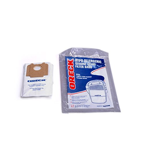 Oreck Edge Compact Canister Vacuum Cleaner Paper Bags 12Pk # PKCC12DW
