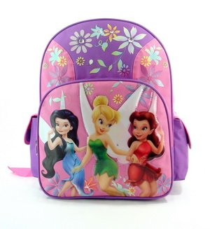 Disney Fairies Backpack - Disney's Fairies BackPack Full Size - Tinkerbell School Bag Large