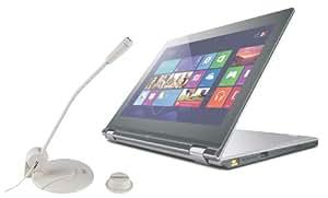 DURAGADGET Micrófono De Mesa Para Lenovo Ideapad Yoga 11S- De Alta Calidad (Rango De Frecuencia: 30 Hz- 13 kHz / Sensibilidad: -58+/-3 dB / Impedancia: 1.4 kOhm)