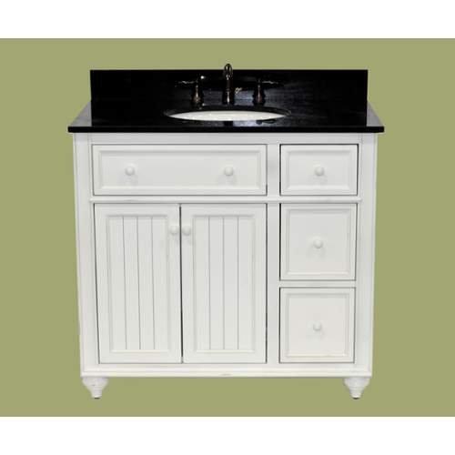 Sagehill Designs Cr3621dn Designer White Cottage Retreat 36 Bathroom Vanity Cab Designer White