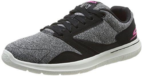Skechers Go Walk CityUptown - zapatilla deportiva de material sintético mujer Schwarz (Bkw)