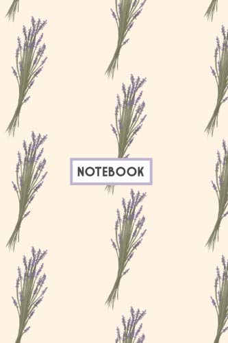 Notebook: Lavender bouquet Notebook (Composition Book, Journal, Diary) (6.14