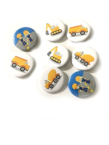 (12 pcs set construction boy girl theme pinback DIAMETER 1.5