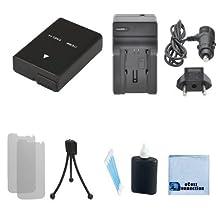 EN-EL14 / EN-EL14A Battery + Car/Home Charger Replacement For Nikon D3100, D3200, D3300, D5100, D5200, D5300, D5500, Coolpix P7000, P7100, P7700, P7800, Df Camera + Complete Starter Kit