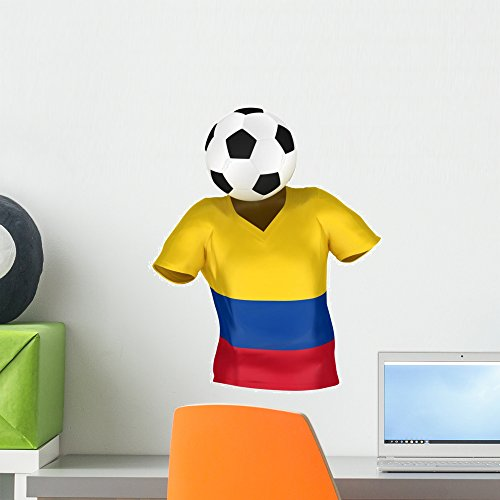 Wallmonkeys National Soccer Team Colombia Wall Decal Peel and Stick Graphic (18 in H x 14 in W) WM321887 ()