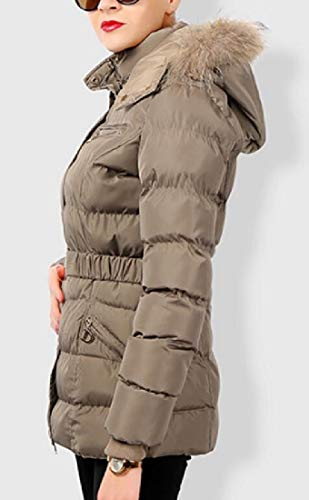 Da Cappuccio Cappotto Cotone Caldo Donna In Con Trapuntato A 1 Sicurezza Lunghe Di Maniche Invernale qarwvfaS