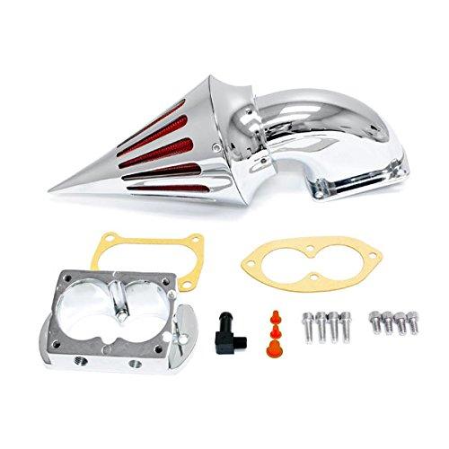 Krator® 2002-2009 Kawasaki 1500/1600 Fuel Injected Vulcan Meanstreak Cruiser High Quality Chrome Billet Aluminum Cone Spike Air Cleaner Kit Intake Filter Motorcycle