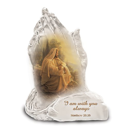 Always With You Praying Hands Religious Art Collectible Figurine by The Bradford Exchange
