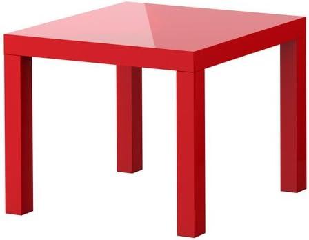 IKEA Lack – Mesa de café (55 x 55 cm), color negro, HIGH GLOSS RED ...