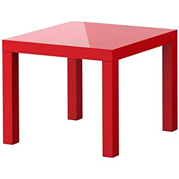 Amazing Ikea Lack Side Table With Extension Legs (High Gloss Red)