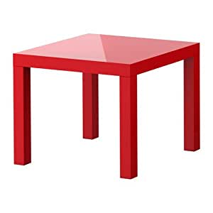 Lack, Side Table, High Gloss Red