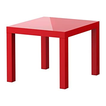 Superbe Lack, Side Table, High Gloss Red